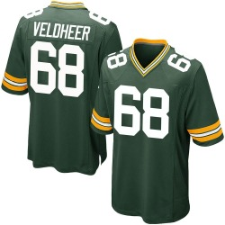 Nike Jared Veldheer Green Bay Packers Youth Game Green Team Color Jersey