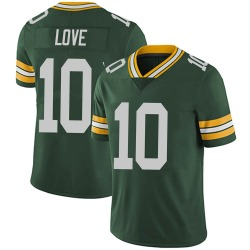 Nike Jordan Love Green Bay Packers Youth Limited Green Team Color Vapor Untouchable Jersey