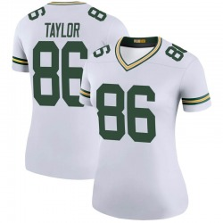 Nike Malik Taylor Green Bay Packers Women's Legend White Color Rush Jersey